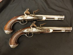 English Queen Ann Pair of Pistols by Wilson