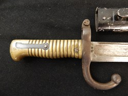 French 1866 Dated Chassepot Rifle Bayonet W/S